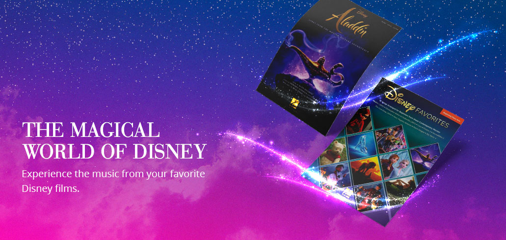 Play and perform the music from your favorite Disney films.