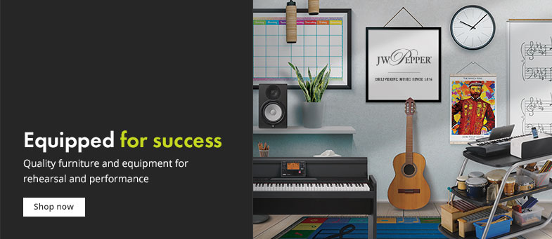 Quality furniture and equipment for music rehearsal and performance.