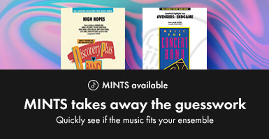Shop pop concert band arrangements with MINTS.