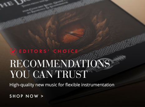 Editors' Choice: Flexible instrumentation band recommendations you can trust with full-length scores & audio of the best new music.