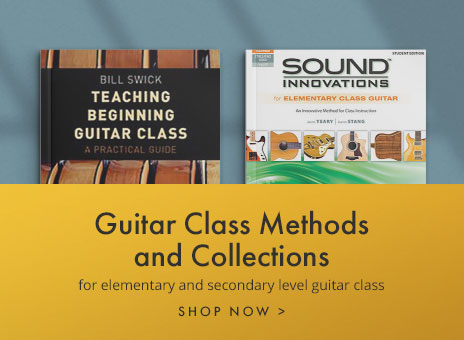 Guitar methods and collections for the classroom.