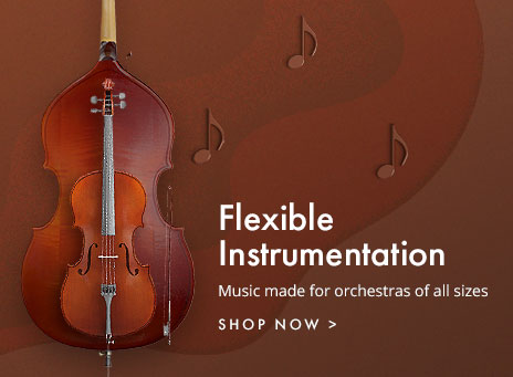 Flexible instrumentation orchestra music for any ensemble size.