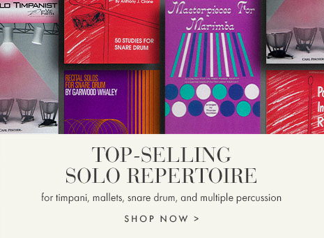 Top-selling percussion solo sheet music.
