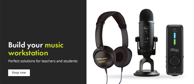Equipment to build your own music workstation, for teachers and students.