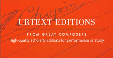 Shop urtext editions from great composers. High quality scholarly editions for performance or study.