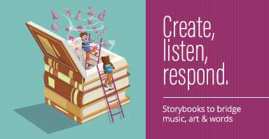 Shop storybooks to bridge music, art, and language. Create, listen, respond.