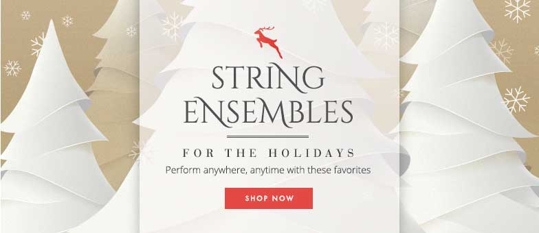 Shop Christmas string ensembles for holiday performances. Perform anywhere, anytime with these favorites!