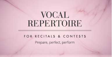 Shop vocal repertoire for auditions and recitals. Prepare, perfect, perform!