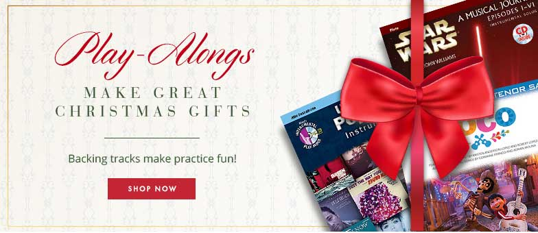 Shop play-alongs for woodwinds. Backing tracks make practice fun and make great gifts!