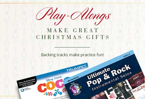Shop play-alongs for brass. Backing tracks make practice fun and make great gifts!