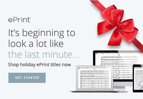 It's beginning to look a lot like the last minute. Shop holiday ePrint digital sheet music and have it now.