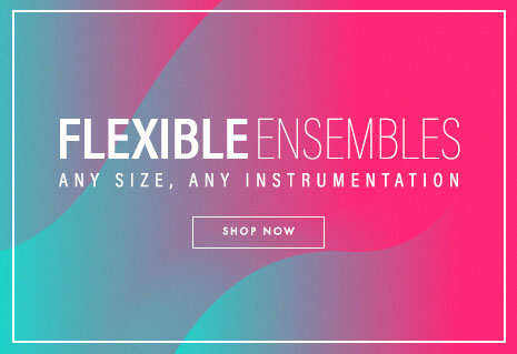 Shop brass ensemble sheet music with flexible instrumentation. Any size. Any instrumentation.