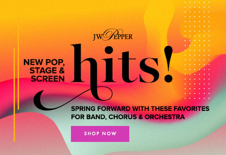 Shop sheet music from new pop, stage, and screen hits! Spring forward with these student favorites.
