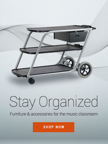 Stay organized! Shop furniture and storage for the music classroom.