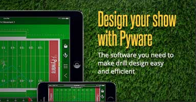 Design your show with Pyware marching band show and drill design software.