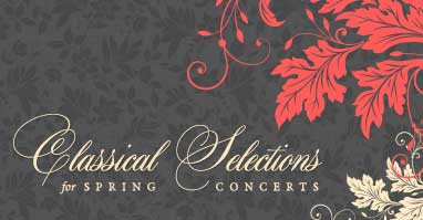 Classical string orchestra music selections for spring concerts.