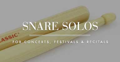 Shop snare solo music for concerts, festivals, and recitals.