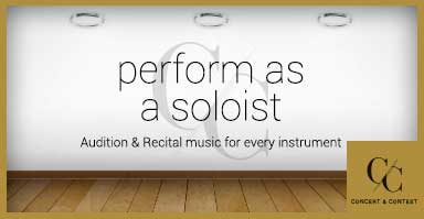 Perform as a soloist. Audition and recital string sheet music for every instrument.