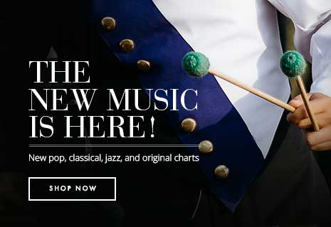 New marching band music is here! Shop new pop, classical, jazz, and original charts.