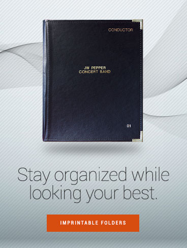 Stay organized while looking your best! Shop imprintable music folders.