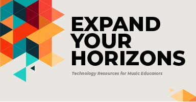 Shop technology resources for music educators and expand your horizons!