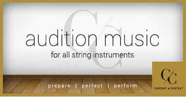 Shop string solo music perfect for auditions and recitals!
