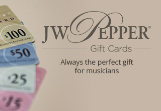 Shop JW Pepper gift cards. Always the perfect gift for musicians!