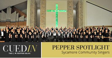 The J.W. Pepper blog.  Pepper spotlight on the Sycamore Community Singers.