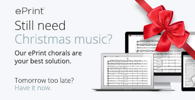 Still need Christmas music? Our ePrint digital choral sheet music is your best solution.