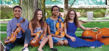 Youth involved in the Sphinx Organization which promotes diversity and inclusion in classical music.