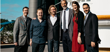 Left to right: Dr. Frank Summers, Richard Slaney, Eric Whitacre, Greg Bacon, Dani Player, and Joe DePasquale for the Deep Field premiere.