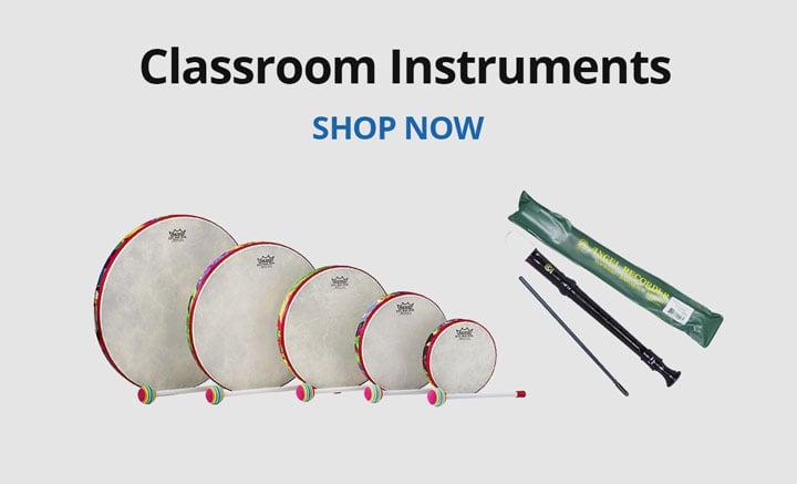 Shop classroom instruments.