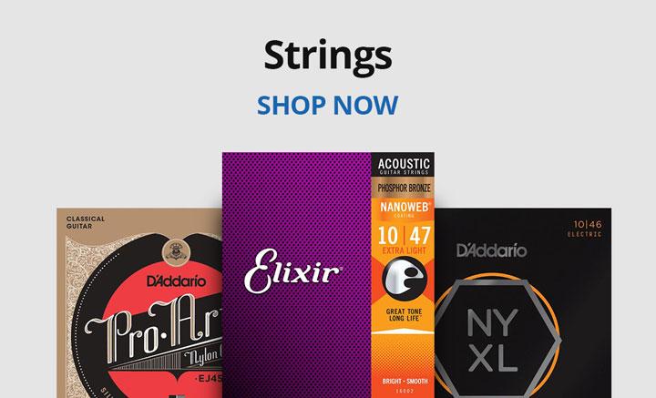 Shop guitar strings.