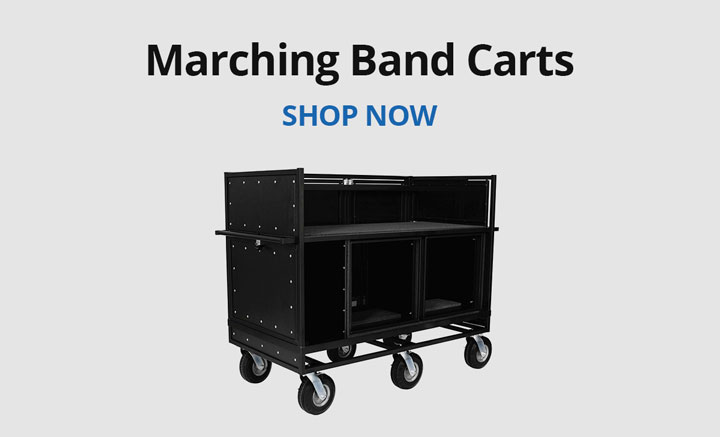 Shop marching band carts.