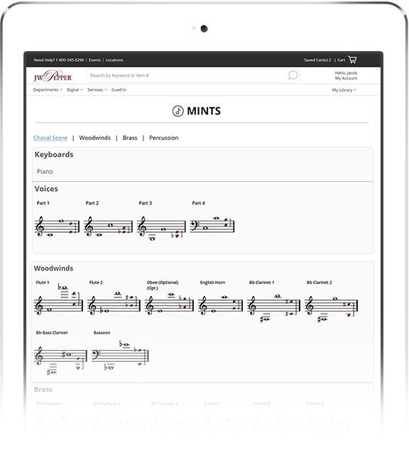 Mints on iPad.