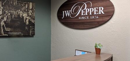 JW Pepper Reception Desk