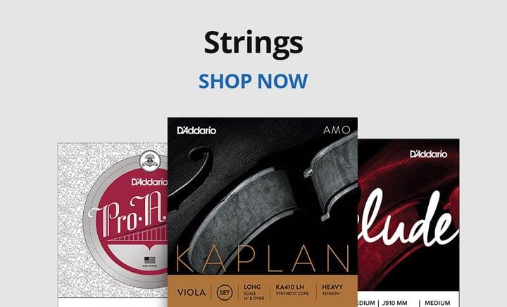 Shop strings.