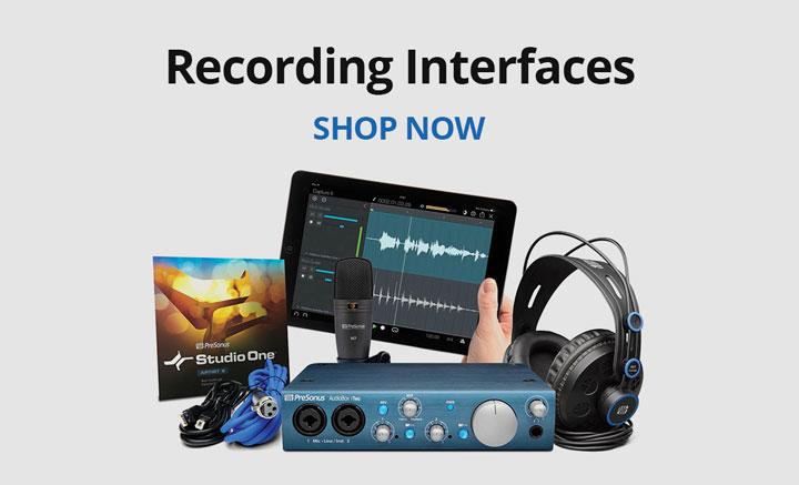 Shop recording interfaces.