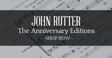click to shop john rutter anniversary editions.