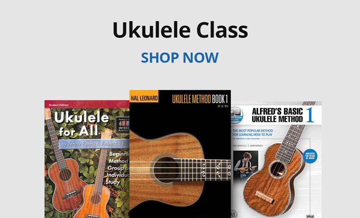 Shop ukulele class resources.
