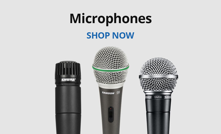 Shop microphones.
