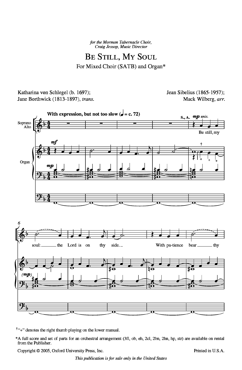 Be Still My Soul (SATB ) by WILBERG, M| J W  Pepper Sheet Music