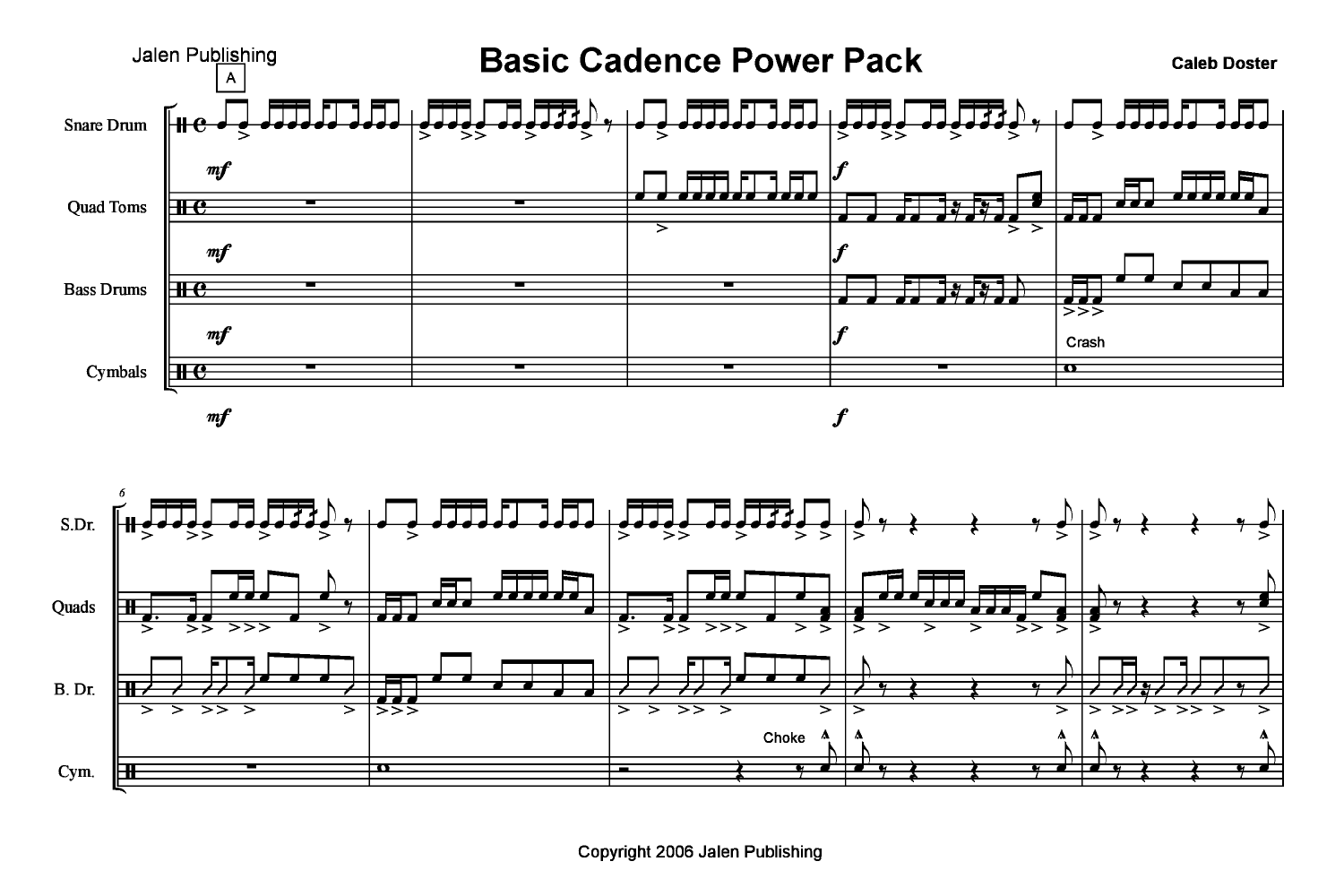 basic cadence power pack by caleb doster j w pepper sheet music