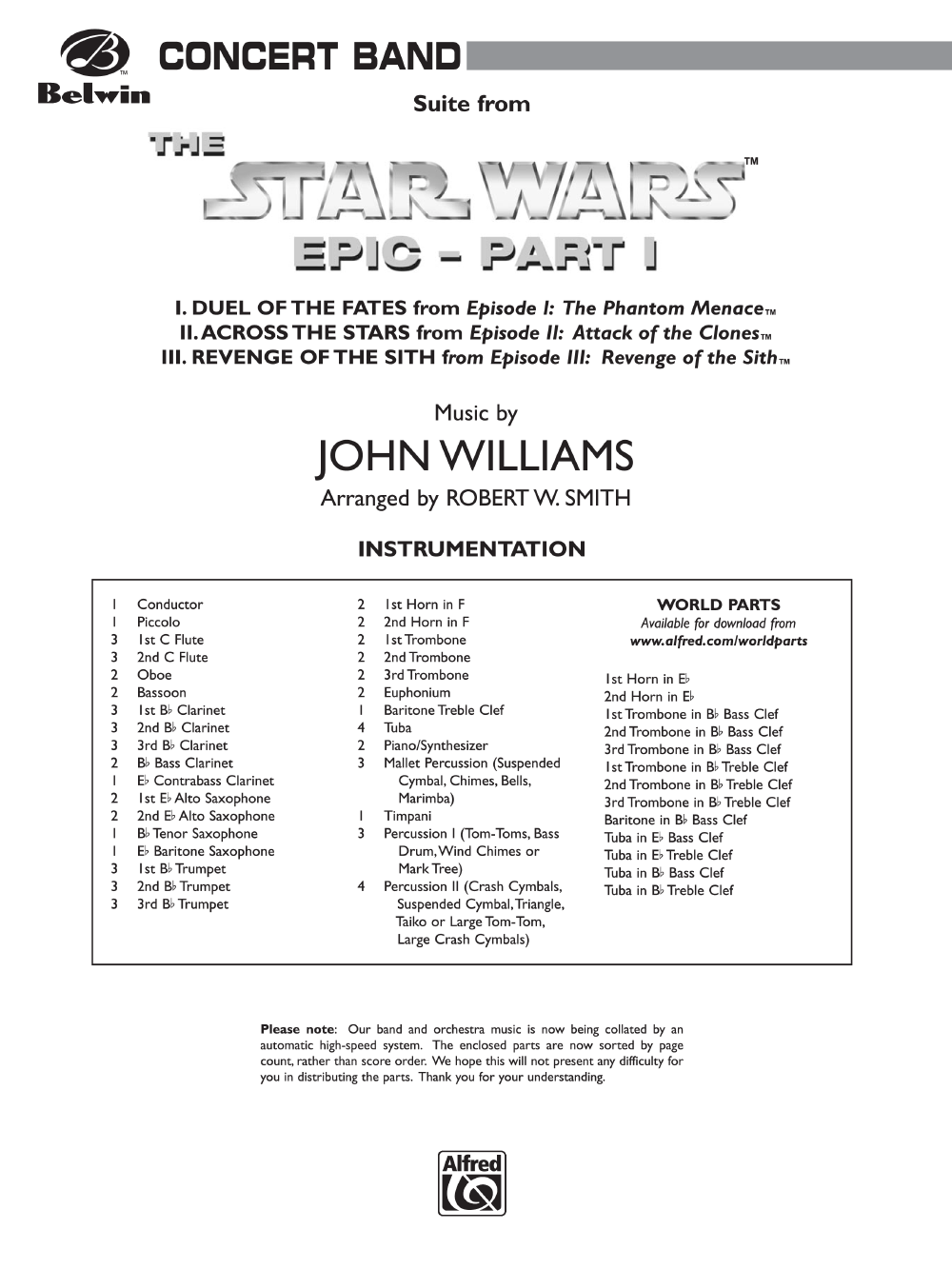 Suite From The Star Wars Epic Part 1 By John Wil J W Pepper Sheet Music