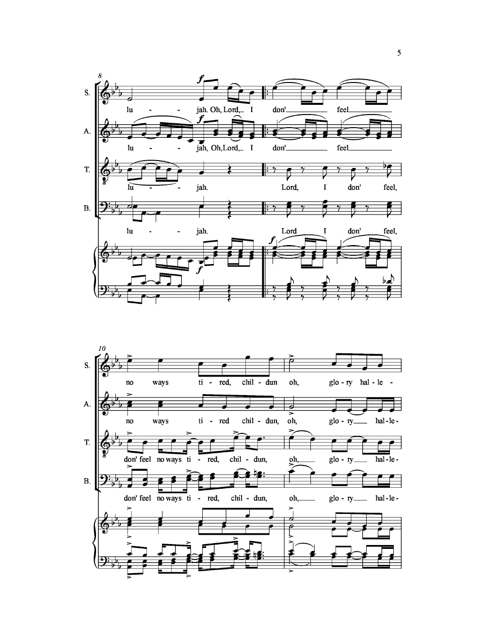 I Don't Feel No Ways Tired (SATB ) by Stace | J.W. Pepper ...
