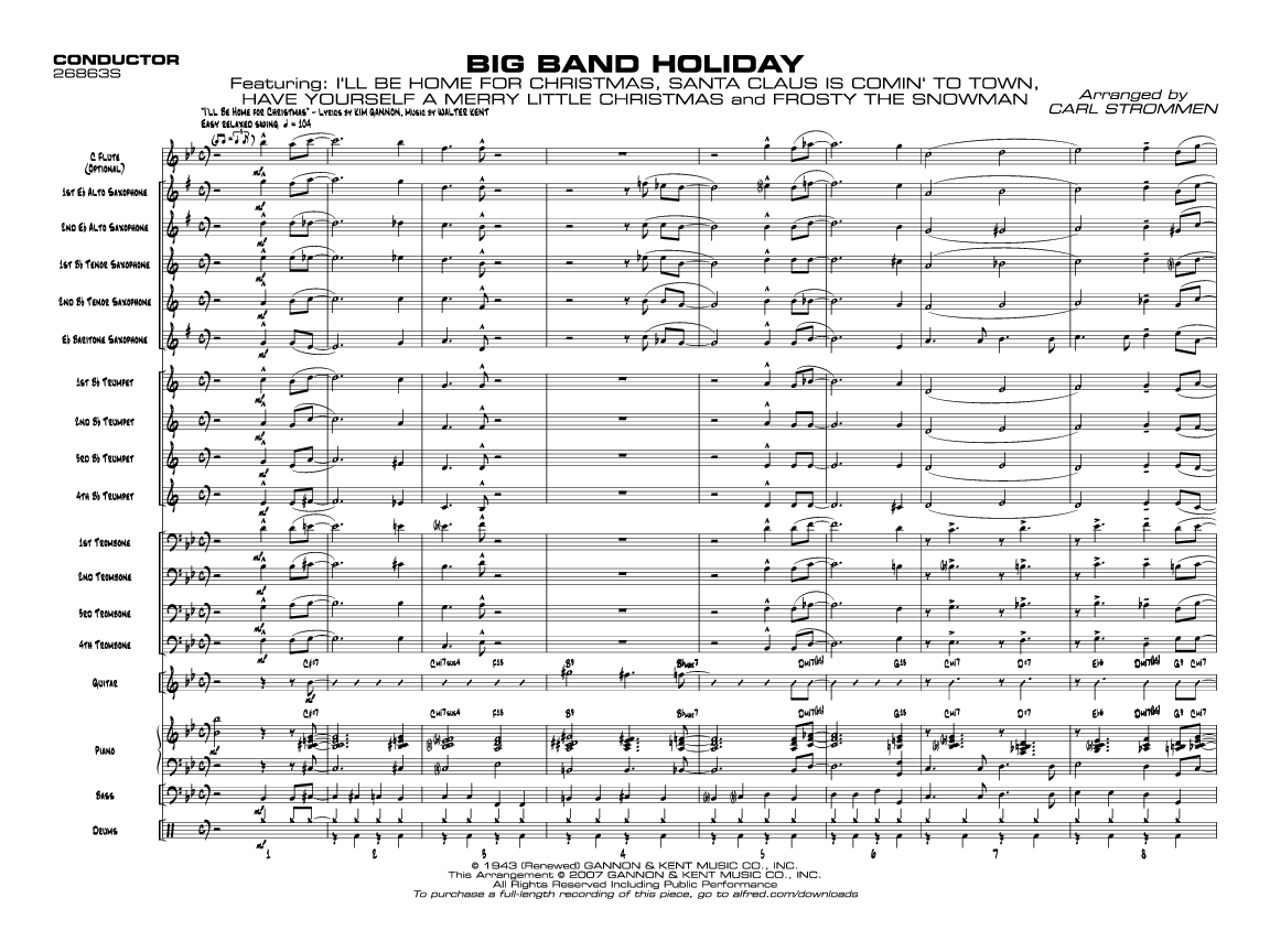 Free pdf big band charts. Download and print out at your ...