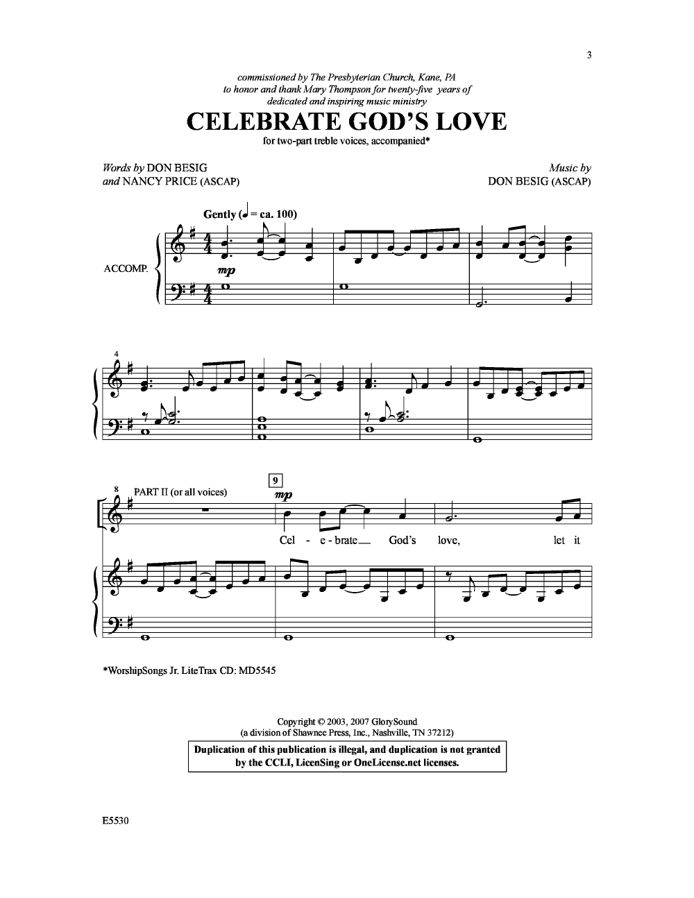 Celebrate God's Love Thumbnail