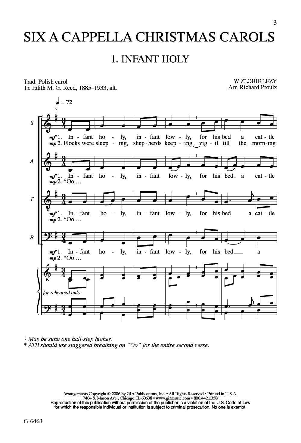 Six a Cappella Christmas Carols (SATB Singe   J W  Pepper Sheet Music