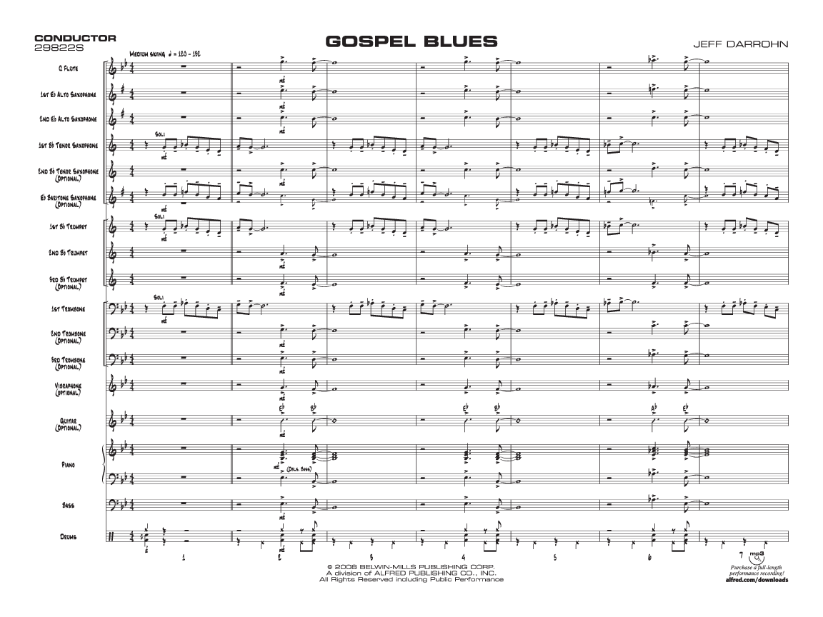 Gospel Blues by Jeff Darrohn| J W  Pepper Sheet Music