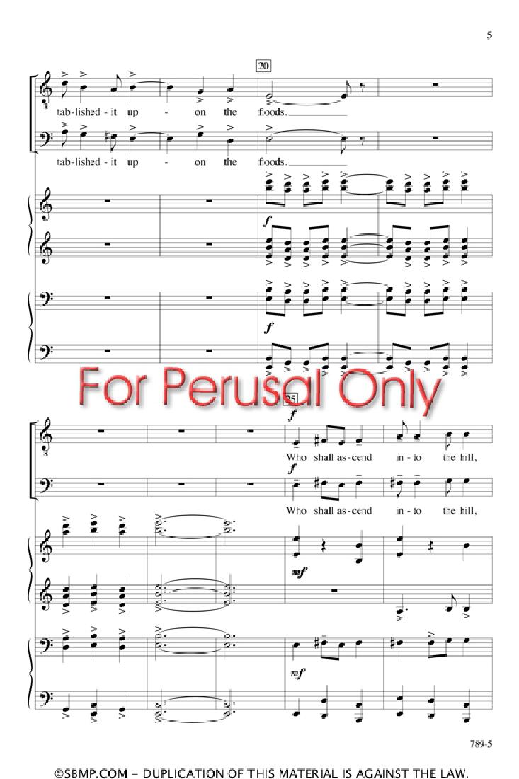 Psalm 24 (SATB ) by Lili Boulanger / arr  M | J W  Pepper